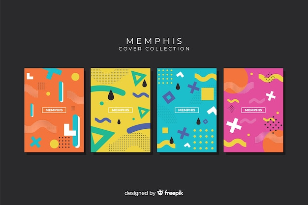 Memphis stijl covercollectie
