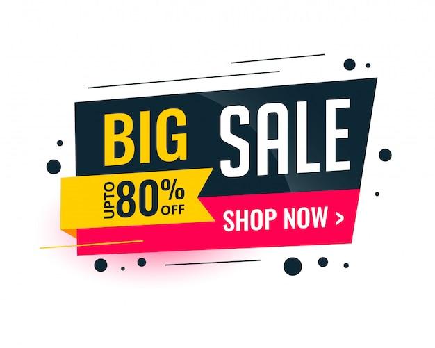 Memphis stijl grote verkoop sjabloon banner