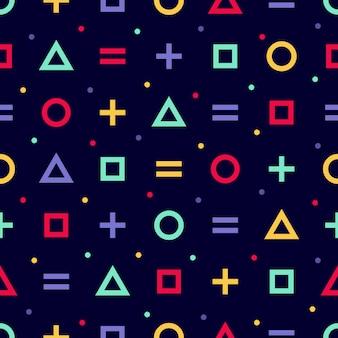 Memphis stijl naadloze patroon. inpakpapier textuur 80-90s stijl. minimaal abstract omslagontwerp.