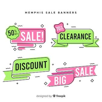 Memphis stijl te koop banner collectie