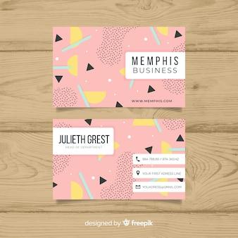Memphis stijl visitekaartjesjabloon