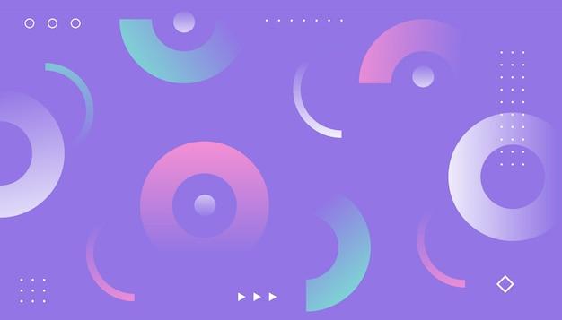 Memphis-stijlachtergrond met geometrische vormen