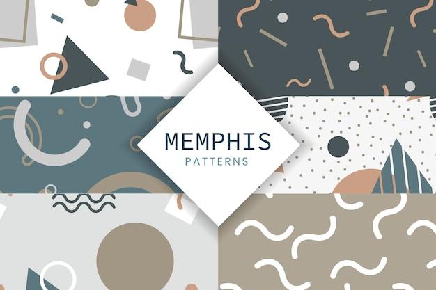 Memphis stijlpatrooncollectie