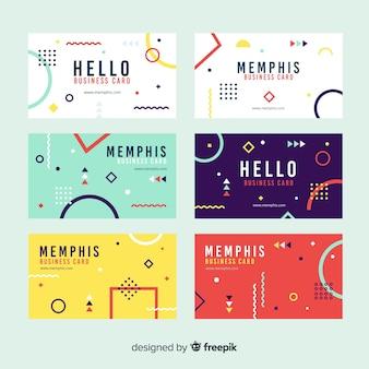 Memphis stijlsjabloon voor visitekaartjes
