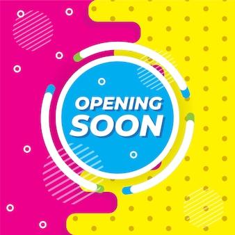Memphis style opening soon ontwerp