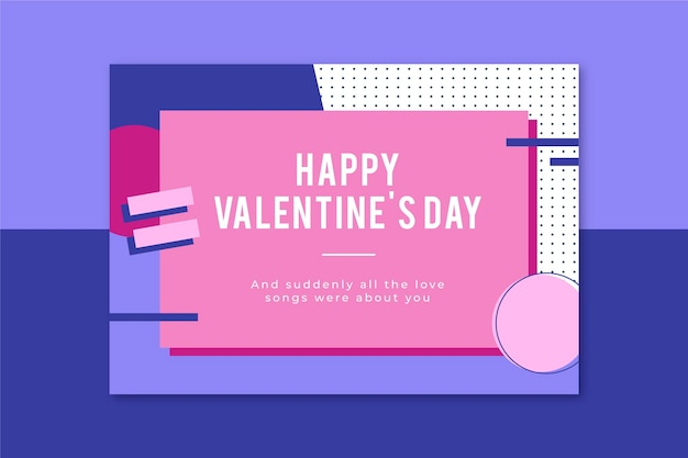 Memphis valentijnsdag kaartsjabloon