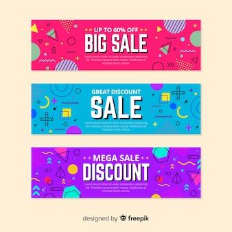 Memphis verkoop banner templates-collectie