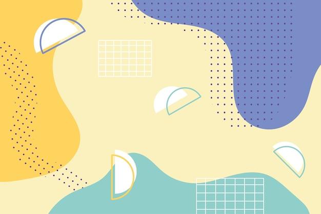 Memphis vormt mode 80s 90s stijl abstracte kleur naadloze patroon illustratie