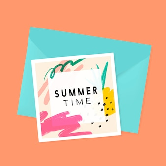 Memphis zomer achtergrond collectie