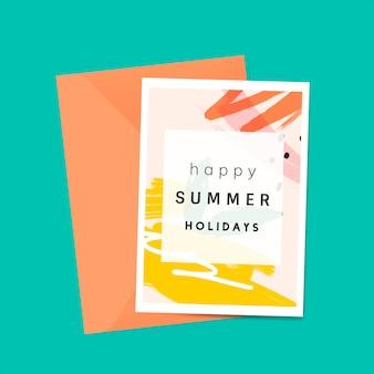 Memphis zomer kaart ontwerp vector