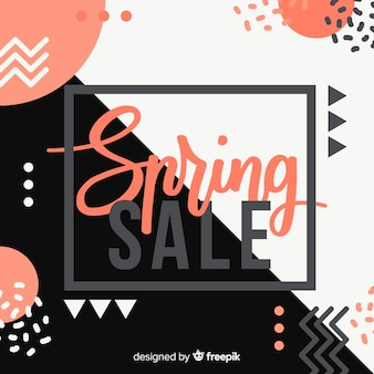 Memphys stijl lente verkoop achtergrond