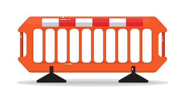 Menigte controle weg barricade metalen hek geïsoleerd op wit