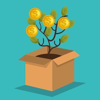 Menigte financiering concept pictogram