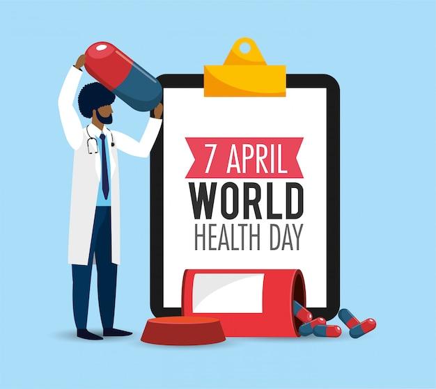 Mens arts met lijstdiagnose aan gezondheidsdag