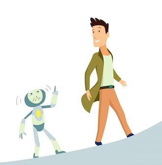 Mens en robot
