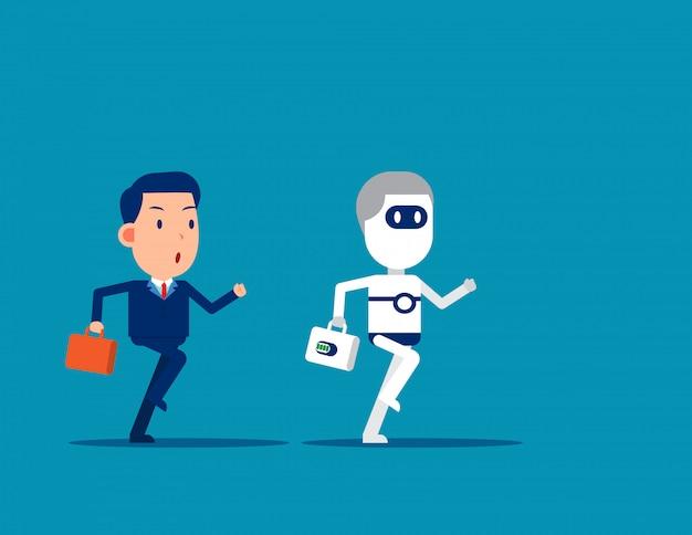 Mens versus robot