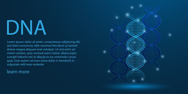 Menselijk genoom, dna-thema concept.