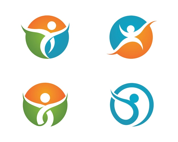 Menselijk karakter logo teken gezondheidszorg logo teken