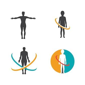 Menselijk karakter logo teken illustratie vector ontwerp
