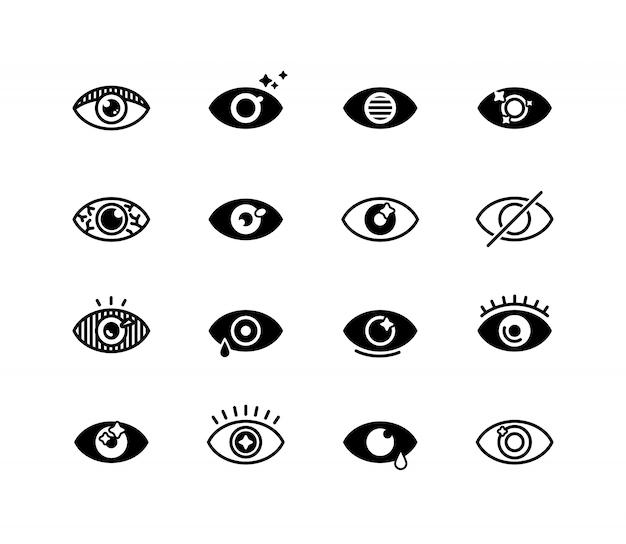 Menselijk oog ingesteld