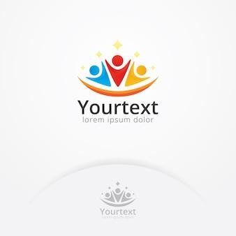 Menselijk sociaal logo-ontwerp