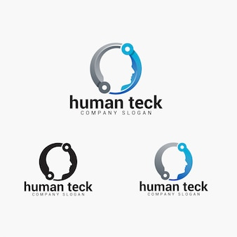 Menselijk teck-logo