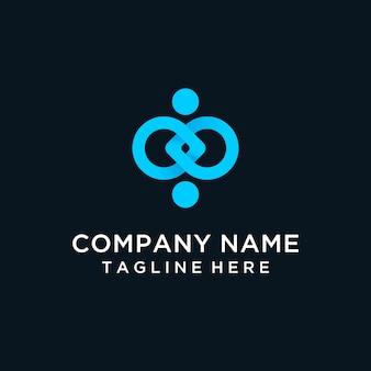 Menselijk verbinding modern logo