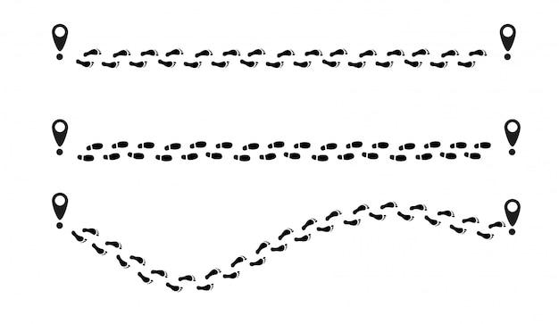 Menselijke benen gaan vanaf het punt over het zebrapad.