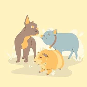 Menselijke beste vrienden gezelschapsdieren