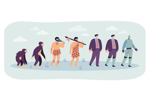 Menselijke evolutie tot robotlijn