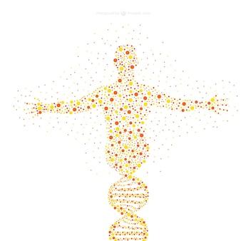 Menselijke figuur dots illustratie