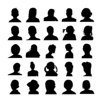 Menselijke gebaar silhouetten