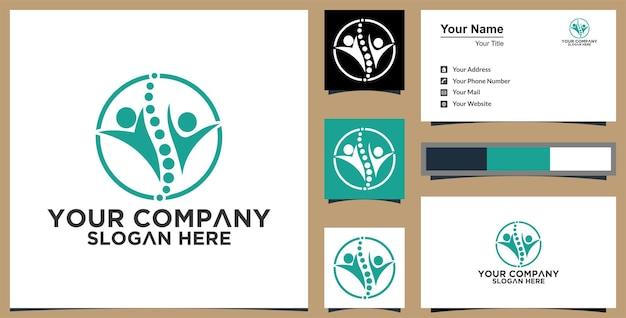Menselijke gezondheid logo abstracte premium