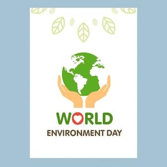 Menselijke hand houden wereldbol environment day