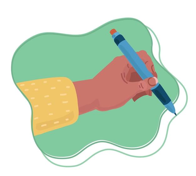 Menselijke hand met pen