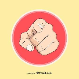 Menselijke hand wijst je afbeelding