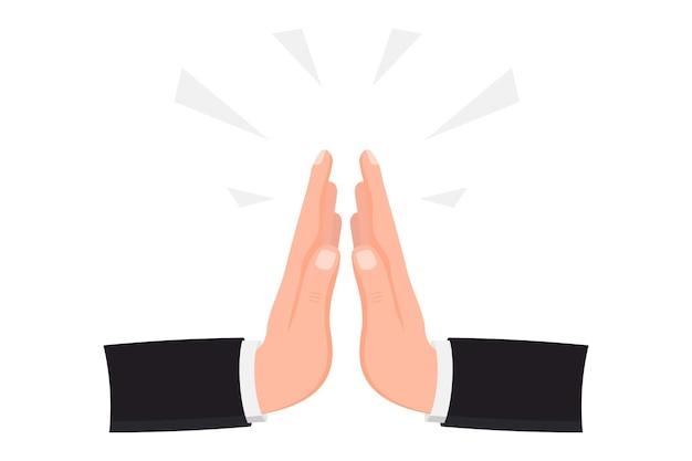 Menselijke handen gevouwen in gebed. geklemde handen. mudra namasté. handen gevouwen in een welkom gebaar. concept van vertrouwen en liefde voor het christendom. een beroep doen op de hemel, verzoek om donatie