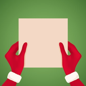 Menselijke handen houden vel papier