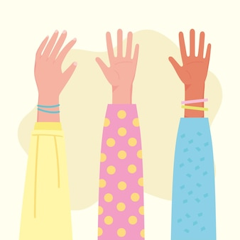 Menselijke handen ingesteld