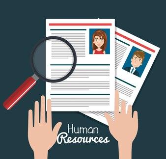 Menselijke hulpbronnen zoeken geïsoleerd