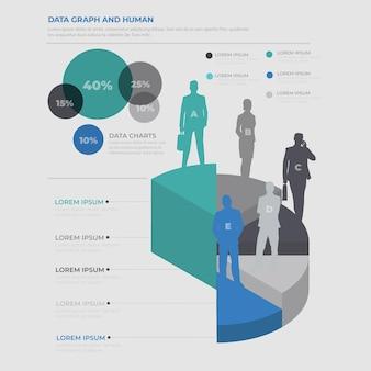 Menselijke infographic elementen ontwerpen schone vector