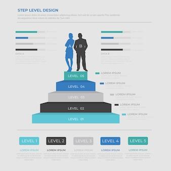 Menselijke infographic elementen sjabloon vector ontwerp