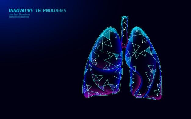 Menselijke longen geneeskunde microscopisch onderzoek concept
