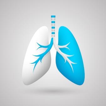 Menselijke longen medische kunst creatief. vector illustratie