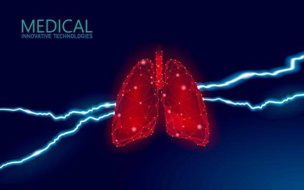 Menselijke longen ziektepreventie geneeskunde concept. ademhalingsvirusinfectie kan gevaar opleveren. pijnlijke zieke medische therapie tuberculose ziekenhuis poster sjabloon illustratie.