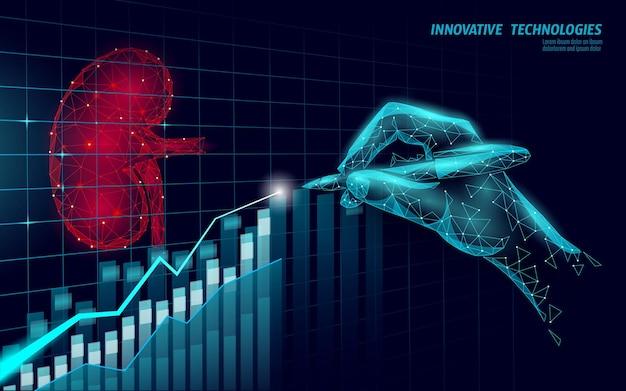 Menselijke nieren geneeskunde onderzoek concept
