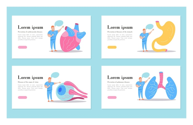 Menselijke organen en artsen.
