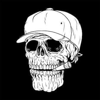 Menselijke schedel, roken doodt jou