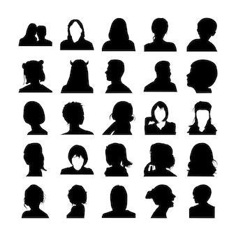 Menselijke silhouet pictogrammen