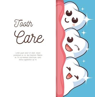 Menselijke tand karakter pictogram
